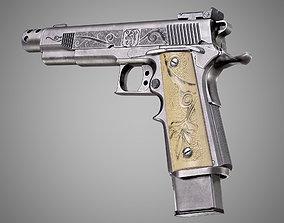Safari Arms Matchmaster Custom 1911 Pistol AAA 3D asset 2