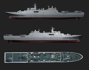 Chinese Navy Type 071 Amphibious Transport Dock 3D model