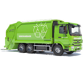New Mercedes Actros Garbage Truck 3D model