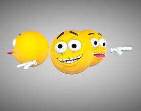 Emoji Rigged Character 3D asset