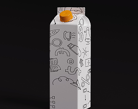 JUICE and MILK TetraPACK 3D