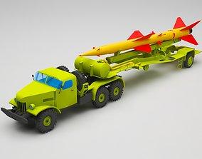Military truck hellfire 3D