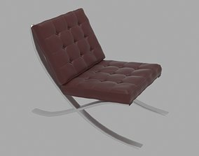 3D model game-ready Barcelona Chair