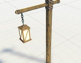 3D asset Medieval Lantern Game Ready