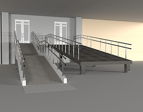 Ramp with railing 3D model