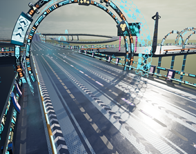 Modular Sci-fi Road 3D asset