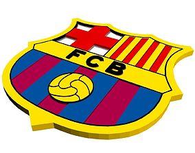 3D asset FC Barcelona Logo