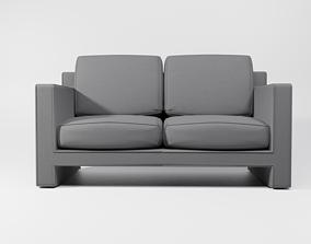 3D asset Knit fabric Sofa Couch set