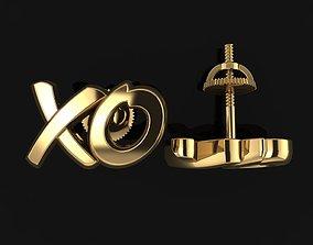 XO KISS AND HUG LOVE STUD EARRING 3D printable model