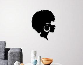 3D print model MODERN AFRICAN LADY WALL ART