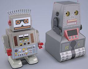 Vintage Style Japan Collectible Electron Robot 3D asset