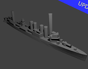 3D printable model US Clemson Class Destroyer Warship