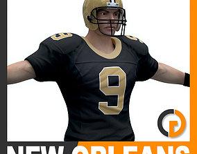 NFL Player New Orleans Saints 3D