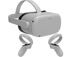 Oculus Quest 2 with Controllers 3D