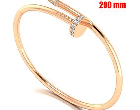 Nail bracelet 200mm 3D print model