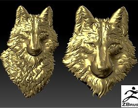 Wolf head wolf 3D printable model