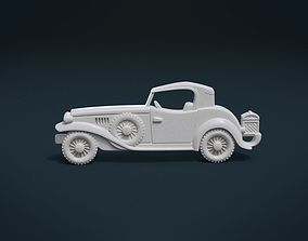 3D printable model Retro Car Relief