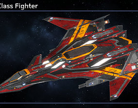 Spaceship Fighter Collection III 3D model