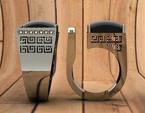 3D print model Onyx ring diamond
