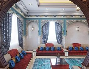 3D asset Islamic Arabic Moroccan sofa carpet table