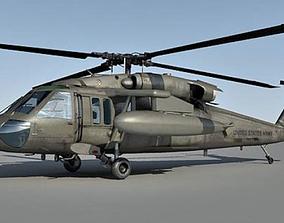 UH-60 Blackhawk Helicopter 3D