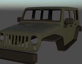 Jeep Wrangler Unlimited 2003 3D print model