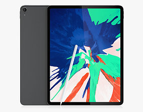 iPad Pro 129 Inches 2018 and New Apple Pencil 3D model