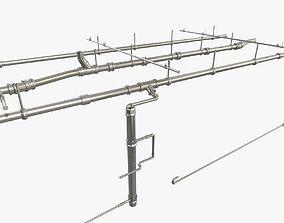 exterior Industrial Pipes 3D Model