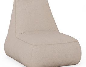 Bean Bag Cloth Beige 3D model