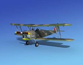 Dehavilland DH82 Tiger Moth V04 3D model