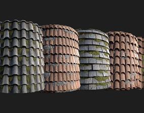 3D model PBR Roof Tile Generator