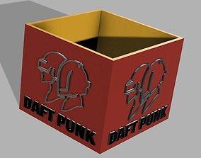 POT A CRAYONS DAFT PUNK 3D print model