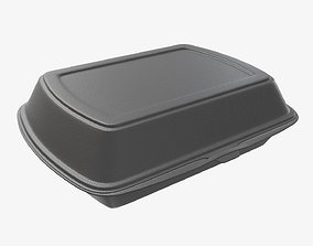 3D model Take away lunch polystyrene box 04 closed