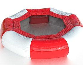 3D asset Modular inflatable water park TRAMPOLINE