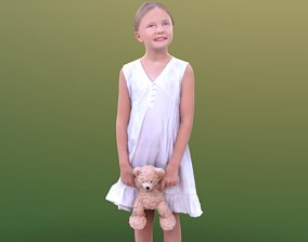 3D asset Lilly 10252 - Standing Child with Teddy