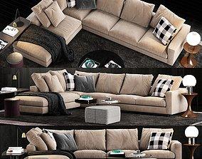 3D model Minotti Andersen Line Sofa 2