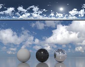Skydome HDR - Blue Sky Cumulus - 1 3D model