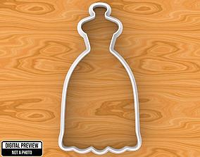 cookie Wedding Dress Cookie Cutter 3D printable model