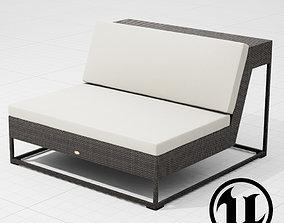 3D asset Dedon Zofa Chair 002 UE4