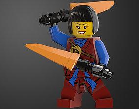 NinjaGirl Lego Game Ready 3D asset