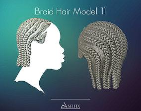 3D print model Braid Hairstyle 11