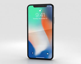 3D Apple iPhone X Silver electronics