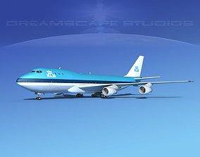 Boeing 747-100 Royal Dutch KLM 3D model