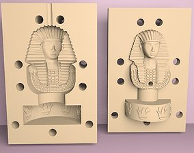 king tutankhamun mold 3D print model