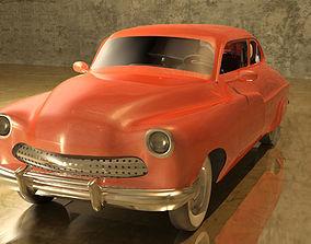 3D Orange Vintage Car