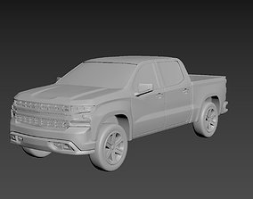 3D printable model Chevrolet Silverado 2020 on a small