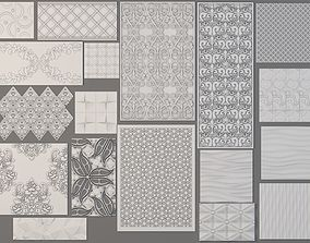 Wall 3D Panels Collection - 18 pieces modular
