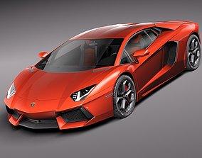 Lamborghini Aventador 2012-2014 3D model