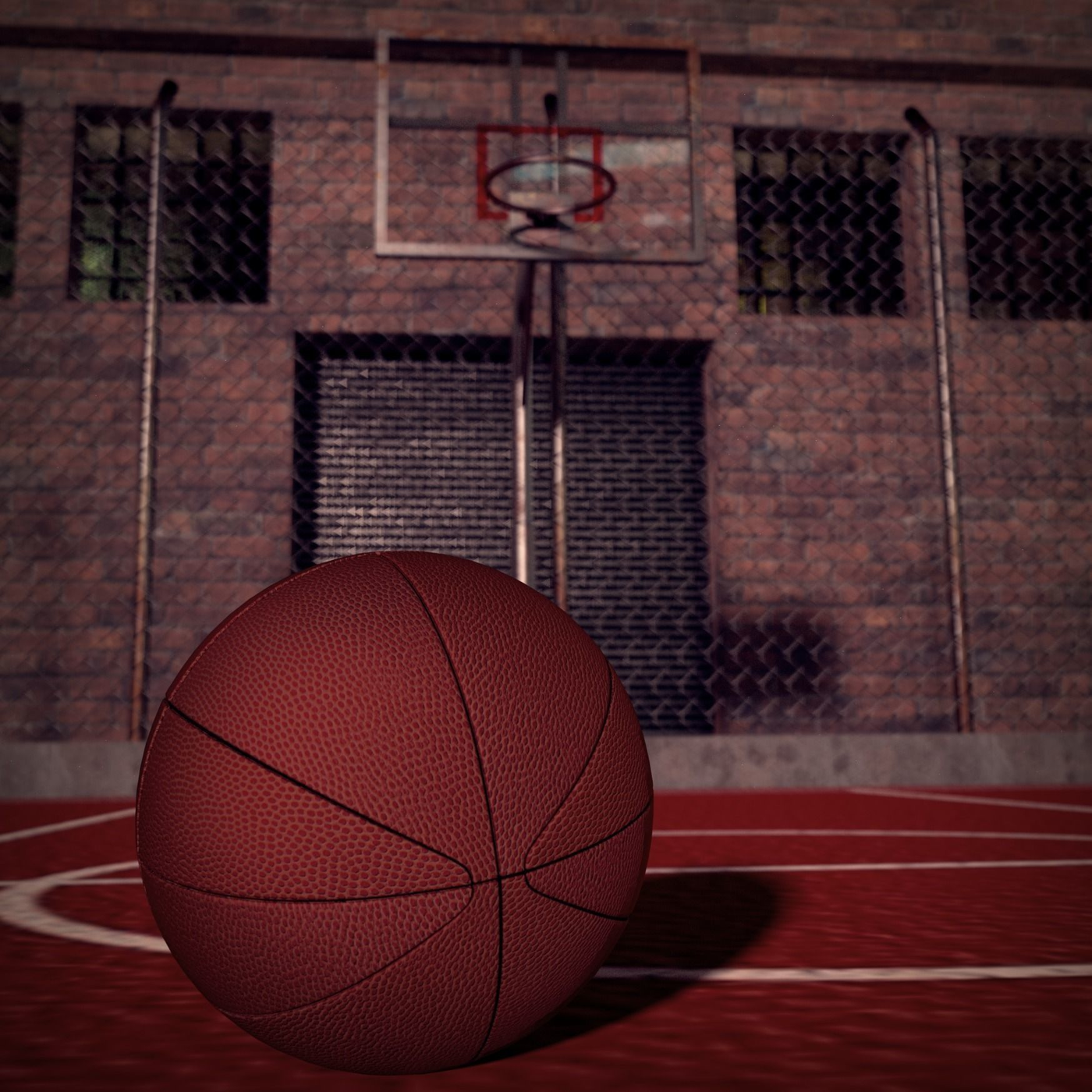 Basketball field and Ball