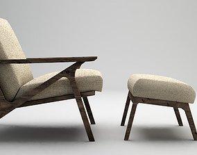 armchair armrest 3D